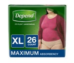 Depend for Women Incontinence Underwear, Maximum Absorbency