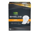 Depend Incontinence Shields for Men, Light Absorbency, 58CT
